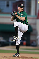 Erie Seawolves Pitcher Jared Gayhart delivers a pitch during a game vs. the Trenton Thunder at Jerry Uht Park in Erie, Pennsylvania;  June 23, 2010.   Trenton defeated Erie 12-7  Photo By Mike Janes/Four Seam Images