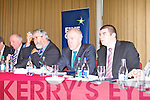 FINE GAEL: John J O'Connor (chairman Kerry South), Minister for Arts, Heritage and the Gaeltacht Jimmy Denihan and Brendan Griffin TD at their AGM at the Manor West hotel, Tralee on Sunday.