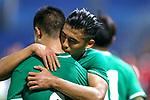 05.09.2017, Stadion, Tianjin, CN. 13. Nationalen Chinesischen Fussballspielen, Zhejiang vs Hubei, im Bild , <br /> <br /> <br /> im Bild Yuning Zhang (Werder Bremen #19) im Halbfinale im gr&uuml;nen Trikot - wie bei seinem Werder Bremen mit der Rueckennummer 10 Jubel Zhang  <br /> <br /> Foto &copy; nordphoto / Oscar <br /> ++++ Attention ++++ ALL RIGHTS RESERVED Kein -Facebook -Twitter -Instagram -Social Media Web, keine online Galerie Pauschale,  Honorar und Belegexemplar Star People