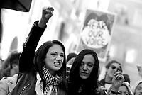 Roma, 20 Gennaio 2018<br /> Asia Argento.<br /> Women's march Rome, per i diritti civili  contro la violenza sulle donne e contro Trump in contemporanea con la manifestazione negli Stati Uniti d'America