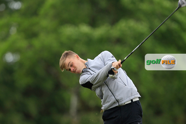 Ciaran Smyth (Greenore) on the 9th tee during Round 3 of the Irish Boys Amateur Open Championship at Tuam Golf Club on Thursday 25th June 2015.<br /> Picture:  Thos Caffrey / www.golffile.ie