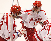 Jordan Greenway (BU - 18), Clayton Keller (BU - 19) The Boston University Terriers defeated the visiting Yale University Bulldogs 5-2 on Tuesday, December 13, 2016, at the Agganis Arena in Boston, Massachusetts.