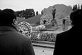 Baku, Azerbaijan <br /> December 12, 2006<br /> <br /> The third anniversary of former Azeri President, Haider Aliyev's death is marked in Baku. At his grave site thousands pass to pay their respects. The former President is idolized in Azerbaijan.<br /> <br /> His son Ilam Aliyev now rules the country.