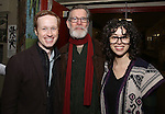 Cody Lassen, Tom Nelis and Adina Verson with Cast of acclaimed Broadway-bound play 'Indecent' meet their Off-Broadway counterparts in 'God of Vengeance' at La Mama on January 10, 2017 in New York City.