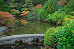 Seattle, Washington:<br /> Fall colored trees in Kubota Gardens city park