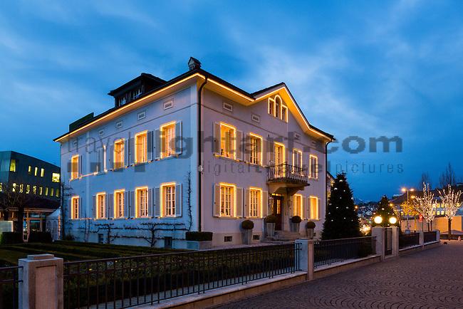 Haus, Gebäude, Architektur, Vaduz, Rheintal, Rhine-valley, Liechtenstein.