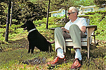 Norm Sears & Black Lab