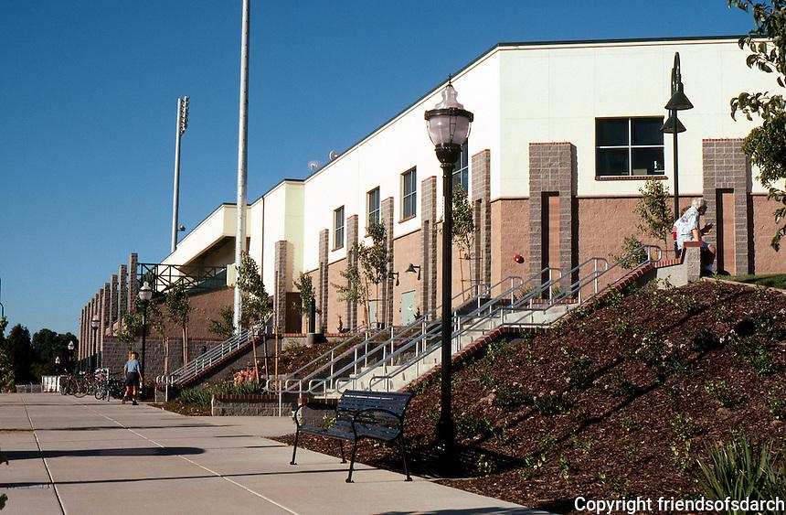 Ballparks: Sacramento--Raley Field. Left field side--exterior.