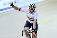 Dylan Kennett  of Waikato BOP  finishes first after competing in the Elite Men Omnium 4, Points Race 25km, at the Age Group Track National Championships, Avantidrome, Home of Cycling, Cambridge, New Zealand, Saturday, March 18, 2017. Mandatory Credit: © Dianne Manson/CyclingNZ  **NO ARCHIVING**