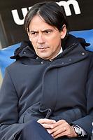 Simone Inzaghi, Lazio coach.<br /> Roma 12-01-2019 Stadio Olimpico<br /> Football Calcio Coppa Italia 2018/2019, Ottavi. <br /> Lazio - Novara<br /> Foto Antonietta Baldassarre / Insidefoto