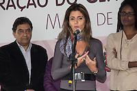 SAO PAULO, SP - 03.06.2016 - MULHER-SP - A coordenadora da S&atilde;o Paulo Carinhosa, Ana Estela Haddad, participa da inaugura&ccedil;&atilde;o do Centro de Refer&ecirc;ncia da Mulher &quot;Maria de Lourdes Rodrigues&quot; no bairro do Cap&atilde;o Redondo, na tarde desta sexta-feira (03), zona sul da capital. A cerim&ocirc;nia contou com a presen&ccedil;a do prefeito, Fernando Hadda, da ex-ministra da Secretaria de Pol&iacute;ticas para as Mulheres, Eleonora Menicucci, a Secretaria de Pol&iacute;ticas para as Mulheres, Denise Motta Dau e do sub-prefeito do Campo Limpo, Antonio Carlos Ganem.<br /> <br /> (Foto: Fabricio Bomjardim / Brazil Photo Press)