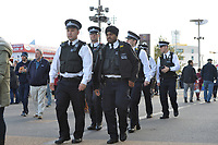 Police during West Ham United vs Burnley, Premier League Football at The London Stadium on 3rd November 2018