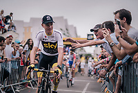 Chris Froome (GBR/SKY) at sign-on<br /> <br /> Stage 21: Houilles > Paris / Champs-Élysées (115km)<br /> <br /> 105th Tour de France 2018<br /> ©kramon