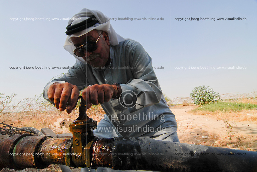 JORDANIEN Wassermangel und Landwirtschaft im Jordan Tal, Bewaesserung / JORDAN, water shortage and agriculture in the Jordan valley , irrigation