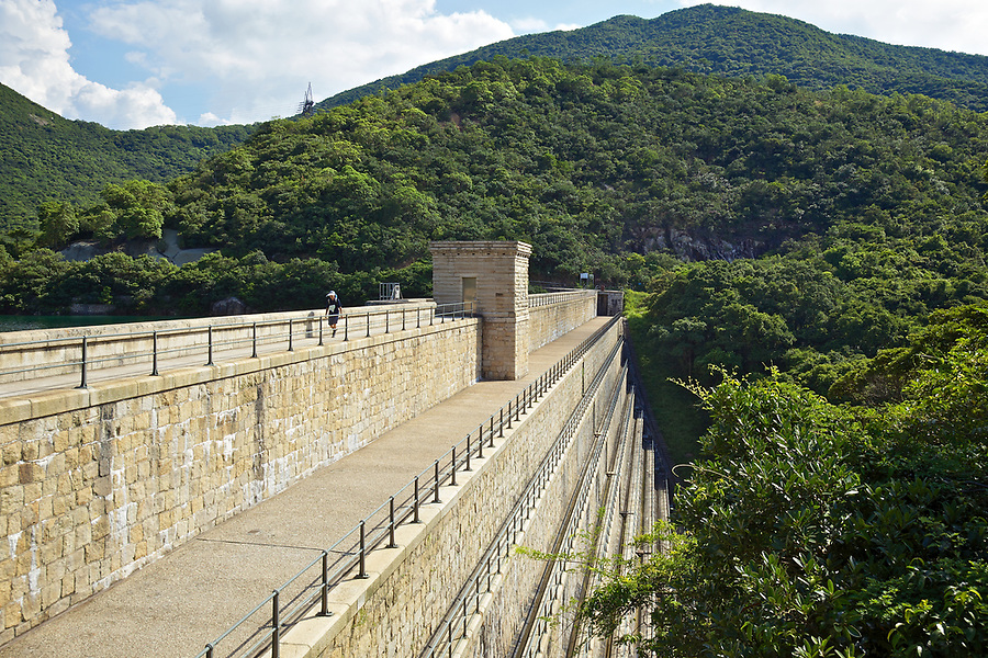 Dam Wall And Valve House Of The Tai Tam Upper Reservoir (1883-88), Tai Tam Group Of Reservoirs. Twenty-One Structures (Together With The Bowen Road Aqueduct) Make Up The 88th Declared Monument.