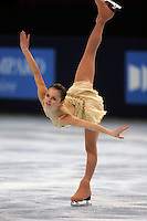 November 19, 2005; Paris, France; Figure skating star SASHA COHEN of USA skates to silver in ladies figure skating at Trophee Eric Bompard, ISU Paris Grand Prix competition.  Cohen is one of the favorites for medals in ladies at the Torino 2006 Olympics.<br />Mandatory Credit: Tom Theobald/ <br />Copyright 2005 Tom Theobald