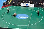 CLEVELAND, OH - MARCH 16: Darian Cruz, of Lehigh, wrestles Nick Suriano , of Rutgers, in the 125 weight class during the Division I Men's Wrestling Championship held at Quicken Loans Arena on March 16, 2018 in Cleveland, Ohio. (Photo by Jay LaPrete/NCAA Photos via Getty Images)