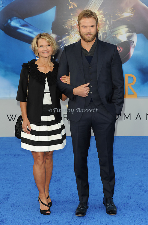 Kellan Lutz and his mother arriving at the Los Angeles world premiere of Wonder Women, held at the Pantages Theatre Hollywood, California on May 25, 2017