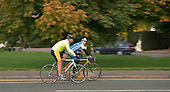 Cyclists keeping fit by frequent cardiovascular exercise