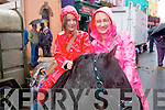 Betty Cremin and Tara Desmond with their new pony at the fair in Kenmare last week.