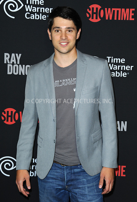 WWW.ACEPIXS.COM<br /> <br /> June 25 2013, LA<br /> <br /> Nick D'Agosto arriving at a screening of 'Ray Donovan' at DGA Theater on June 25, 2013 in Los Angeles, California<br /> <br /> By Line: Peter West/ACE Pictures<br /> <br /> <br /> ACE Pictures, Inc.<br /> tel: 646 769 0430<br /> Email: info@acepixs.com<br /> www.acepixs.com