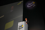 Christian Prudhomme Tour Director speaks at the Tour de France 2020 route presentation held in the Palais des Congrès de Paris (Porte Maillot), Paris, France. 15th October 2019.<br /> Picture: ASO/Thomas Colpaert | Cyclefile<br /> <br /> All photos usage must carry mandatory copyright credit (© Cyclefile | ASO/Thomas Colpaert)