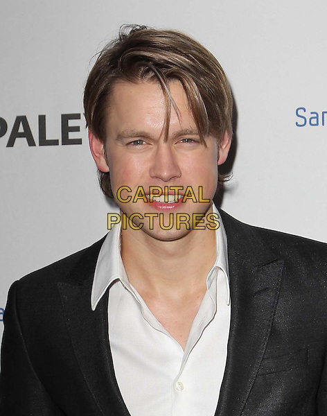 Chord Overstreet.PaleyFest Icon Award 2013 Held At The Paley Center for Media, Beverly Hills, California, USA..February 27th, 2013.headshot portrait suit black white shirt .CAP/ADM/KB.©Kevan Brooks/AdMedia/Capital Pictures.