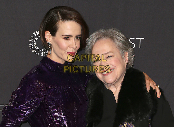 26 March 2017 - Hollywood, California - Sarah Paulson, Kathy Bates. The Paley Center For Media's 34th Annual PaleyFest Los Angeles - &quot;American Horror Story: Roanoke&quot;  held at the Dolby Theatre. <br /> CAP/ADM<br /> &copy;ADM/Capital Pictures