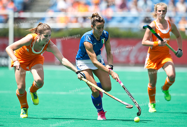 27/06/2015<br /> HWL Semi Final Antwerp Belgium 2015<br /> Netherlands v Italy Women<br /> Martina  Chirico<br /> Photo: Grant Treeby