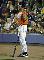 April 2, 2004:  Catcher Mike Piazza of the New York Mets organization during Spring Training at Tradition Field in St. Lucie, FL.  Photo by:  Mike Janes/Four Seam Images