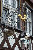 Café Hahn am Marktplatz, Wertheim, Baden-Württemberg, Deutschland