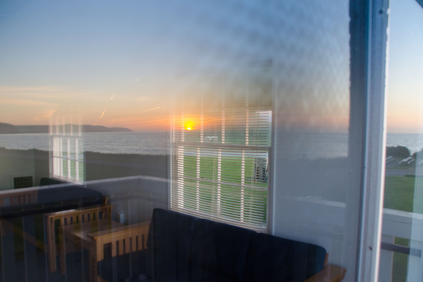 Sunset Through Baracks Window, Fort Casey State Park, Whidbey Island, Washington, US