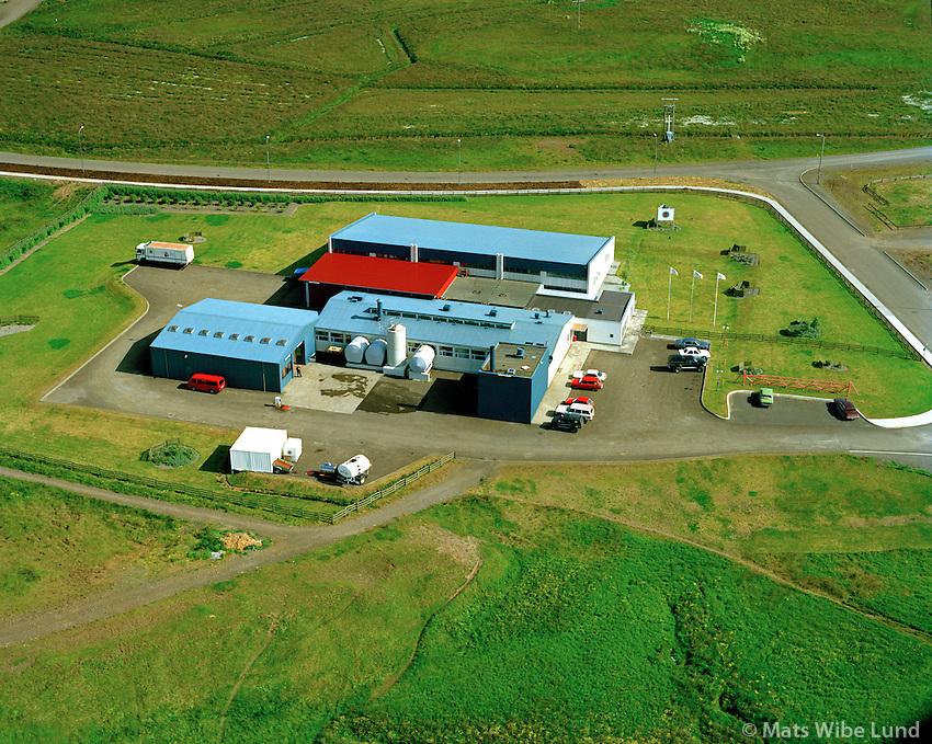 Mjólkursamsalan Búðardalur séð til suðausturs,  Dalabyggð / Mjolkursamsalan diary in Budardalur viewing southeast, Dalabyggd.