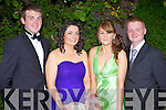DEBS: Attending the Gael Colaiste Chiarrai Debs Ball in the Abbeygate Hotel, Tralee on Friday night were l-r: Andrew Egan, Stephanie Lynch, Jessica Hoare, David Halsall.