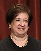 Associate Justice Elena Kagan poses for a group photograph at the Supreme Court building on June 1 2017 in Washington, DC.  <br /> Credit: Olivier Douliery / Pool via CNP