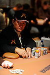 "Men ""The Master"" Nguyen is close to the chip lead halfway through play on Day 2 of the NAPT Venetian Main Event."