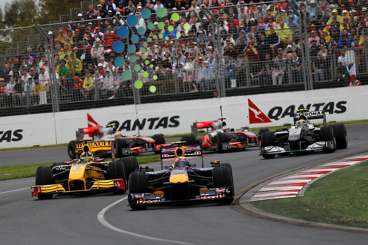 F1 GP of Australia, Melbourne 26. - 28. March 2010.Mark Webber (AUS), Red Bull Racing - Robert Kubica (POL), Renault F1 Team - Nico Rosberg (GER), Mercedes GP - Jenson Button (GBR),  McLaren F1 Team  - Lewis Hamilton (GBR), McLaren F1 Team ..Hasan Bratic;Koblenzerstr.3;56412 Nentershausen;Tel.:0172-2733357;.hb-press-agency@t-online.de;http://www.uptodate-bildagentur.de;.Veroeffentlichung gem. AGB - Stand 09.2006; Foto ist Honorarpflichtig zzgl. 7% Ust.;Hasan Bratic,Koblenzerstr.3,Postfach 1117,56412 Nentershausen; Steuer-Nr.: 30 807 6032 6;Finanzamt Montabaur;  Nassauische Sparkasse Nentershausen; Konto 828017896, BLZ 510 500 15;SWIFT-BIC: NASS DE 55;IBAN: DE69 5105 0015 0828 0178 96; Belegexemplar erforderlich!..