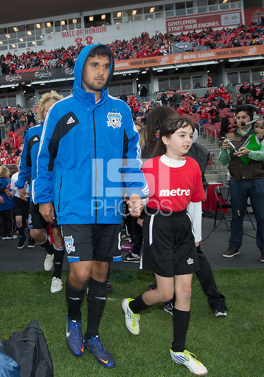 24 March 2012: San Jose Earthquakes forward Chris Wondolowski #8 walks onto the pitch during the opening ceremonies in a game between the San Jose Earthquakes and Toronto FC at BMO Field in Toronto..The San Jose Earthquakes won 3-0..