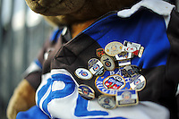 A general view of Bath Rugby Supporters' Club badges. European Rugby Champions Cup match, between Bath Rugby and RC Toulon on January 23, 2016 at the Recreation Ground in Bath, England. Photo by: Patrick Khachfe / Onside Images