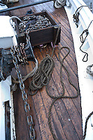 Deck detail on the Historic Tall Ship, A.J. Meerwald, New Jersey