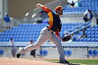 Houston Astros pitcher Collin McHugh (31) during a Spring Training game against the Toronto Blue Jays on March 9, 2015 at Florida Auto Exchange Stadium in Dunedin, Florida.  Houston defeated Toronto 1-0.  (Mike Janes/Four Seam Images)