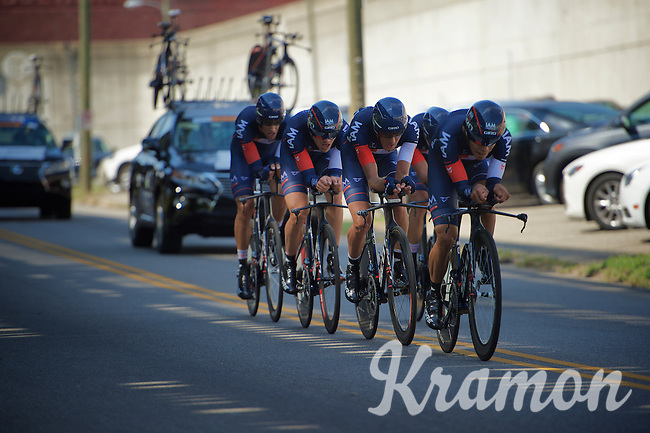 IAM cycling Team (SUI) on course<br /> <br /> Elite Men&rsquo;s Team Time Trial<br /> UCI Road World Championships Richmond 2015 / USA
