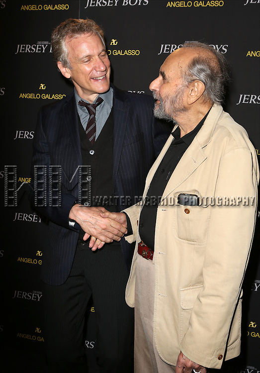 Rick Elice and Stanley Donen attends a special New York screening  reception for 'Jersey Boys' hosted by Angelo Galasso  at Angelo Galasso on June , 2014 in New York City.
