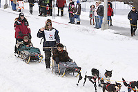 Saturday March 6 , 2010    Ryan Redington on 4th avenue     during the ceremonial start of the 2010 Iditarod in Anchorage , Alaska