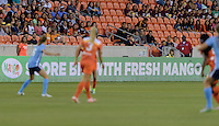 Houston, TX - Friday April 29, 2016: LED Mango.org sign at BBVA Compass Stadium. The Houston Dash tied Sky Blue FC 0-0.