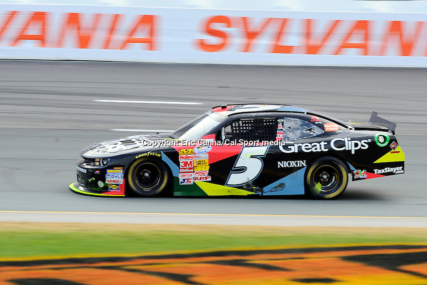 """July 13, 2013 - Loudon, New Hampshire U.S. - Nationwide Series driver Kasey Kahne (5) racing in the NASCAR Nationwide Series CNBC Prime's """"The Profit"""" 200 race being held at the New Hampshire Motor Speedway in Loudon, New Hampshire.   Eric Canha/CSM"""