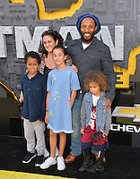 Ziggy Marley &amp; Orly Marley &amp; Family at the world premiere of &quot;The Lego Batman Movie&quot; at the Regency Village Theatre, Westwood, Los Angeles, USA 4th February  2017<br /> Picture: Paul Smith/Featureflash/SilverHub 0208 004 5359 sales@silverhubmedia.com