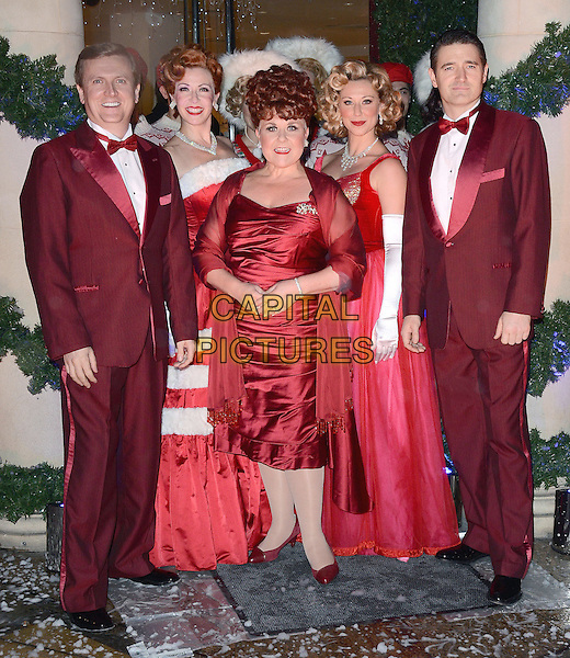Tom Chambers, Aled Jones, Wendi Peters and the Cast of White Christmas attend a Christmas sing-a-long as Fenwick of Bond Street and White Christmas The Musical collaborate for a debut performance of the seasonal show at Fenwick, Bond Street, New Bond Street, London on Wednesday 29th October 2014<br /> CAP/PP/MB<br /> &copy; Michael Ball/PP/Capital Pictures