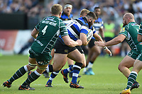 Will Vaughan of Bath Rugby goes on the attack. Aviva Premiership match, between Bath Rugby and London Irish on May 5, 2018 at the Recreation Ground in Bath, England. Photo by: Patrick Khachfe / Onside Images