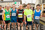 Pat Dunworth, Derek Griffin, Danny Murphy, Damien Foley, Martin Dineen at the start of the Kerry's Eye Tralee, Tralee Half Marathon on Saturday.